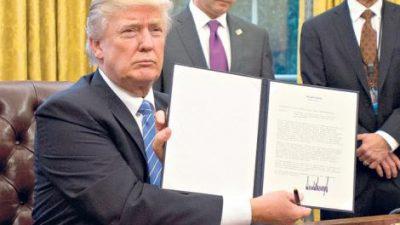 Trump sacó a EE.UU. del Acuerdo Transpacífico