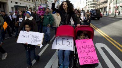 La huelga de inmigrantes contra Trump se sintió fuerte en todo EEUU