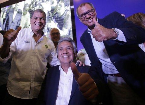 En Ecuador ganó el candidato oficialista pero habría segunda vuelta