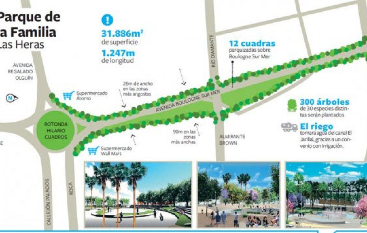 Por primera vez en su historia, Las Heras tendrá un parque