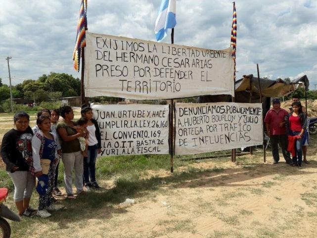 Reprimieron a la comunidad originaria guaraní Happo Pau, en Salta