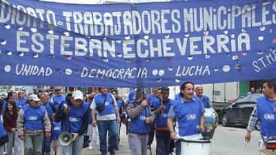 Municipales de Echeverría apuntan a recuperar el salario perdido