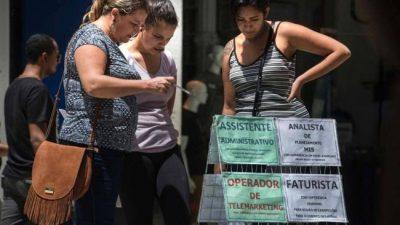 Brasil alcanzó un desempleo récord: el 12%