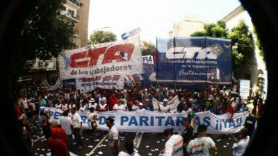 Las dos CTA paran y se movilizan contra las políticas del gobierno nacional