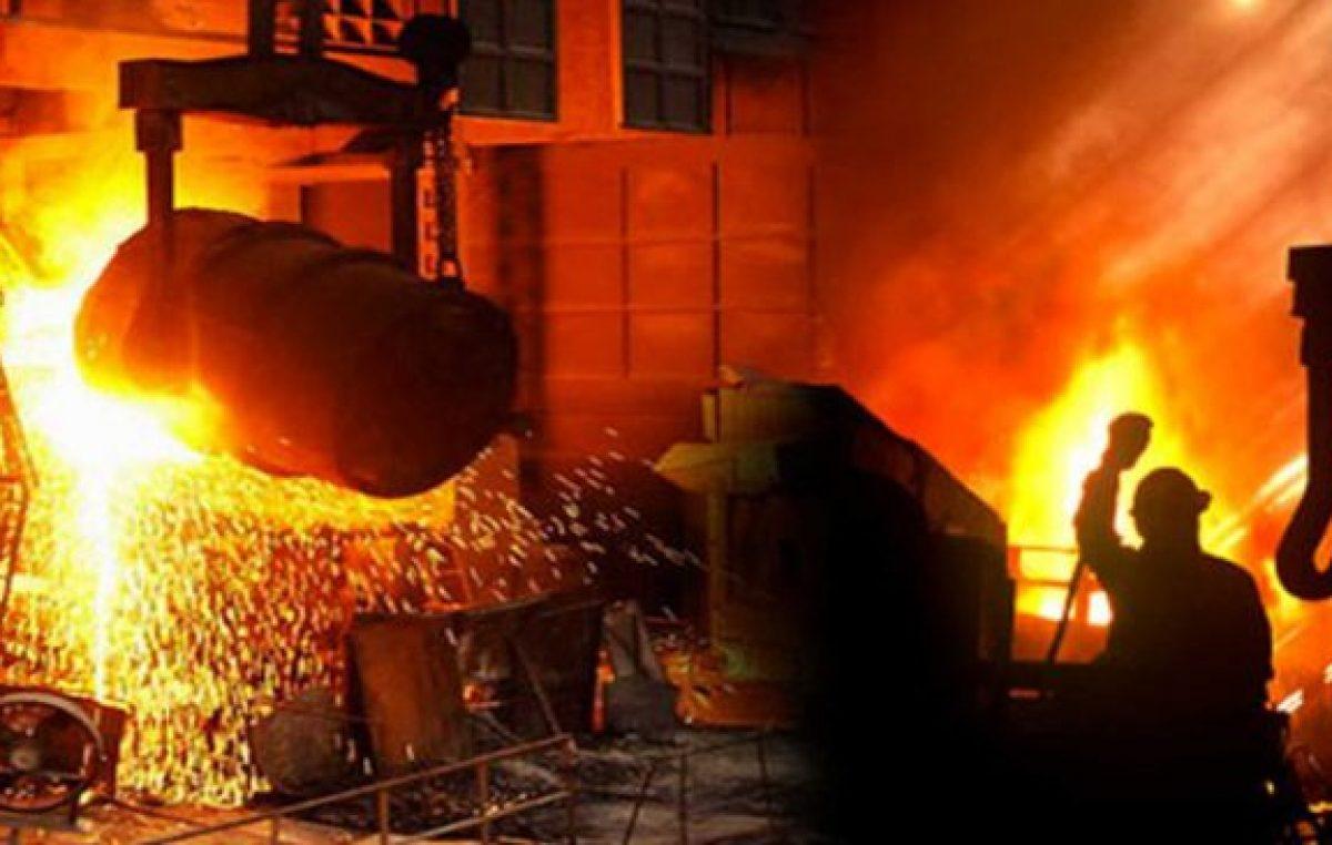 La producción de acero se derrite