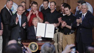 Trump borró de un plumazo casi toda la política ambiental de Obama