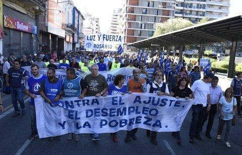 """""""La ciudad de Rosario se convirtió en la capital nacional del paro"""""""