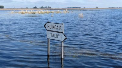 El agua no baja y genera tensiones en el sur cordobés