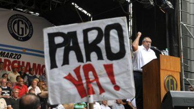 Comenzó el primer paro nacional de la CGT contra el gobierno de Mauricio Macri