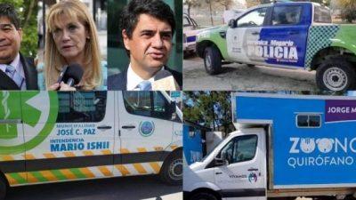 Ahora Jorge Macri estampó su nombre en vehículos públicos y estalló la polémica