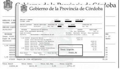 Con el aumento, la dieta de un legislador cordobés llegó a 128 mil pesos