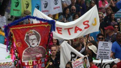 Artistas populares de Brasil confirman que continuirán las movilizaciones pidiendo elecciones