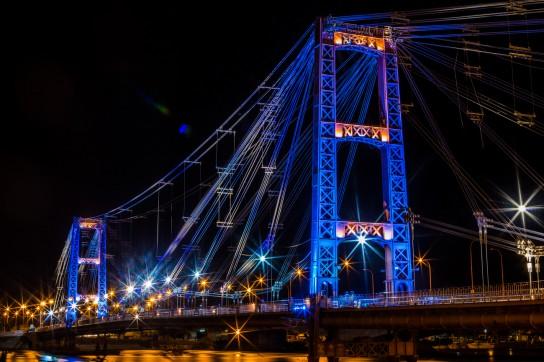 Este jueves se inaugura la iluminación del Puente Colgante en Santa Fe