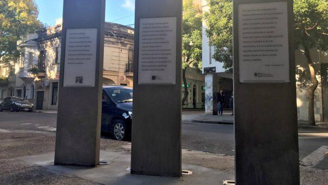Señalizaron un espacio de memoria en Rosario