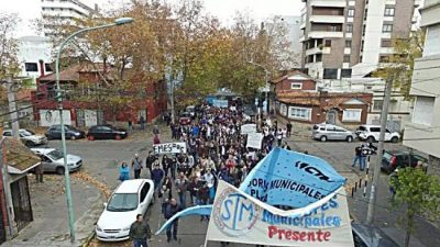 Municipales de Mar del Plata anuncian retención de tareas y movilización para este miércoles