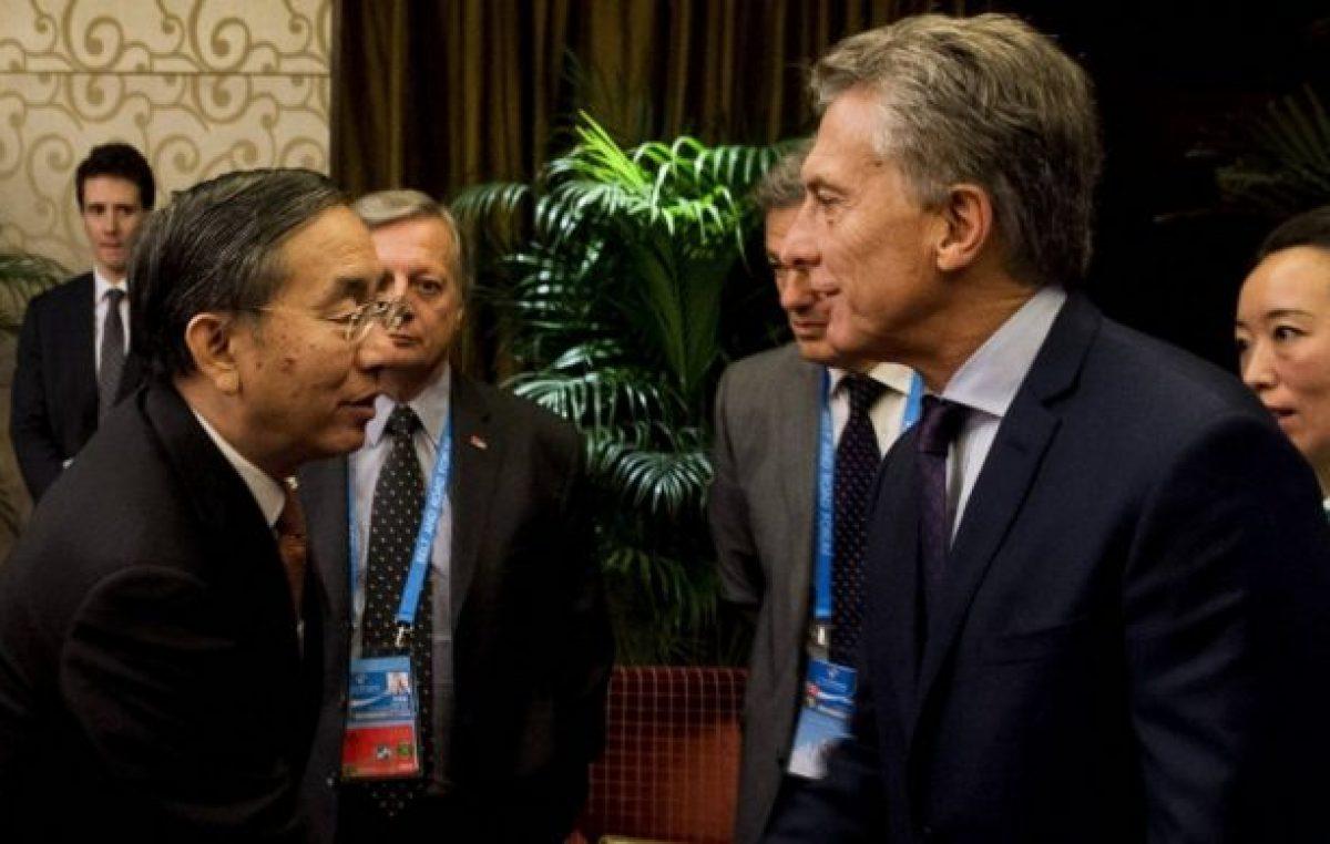 China advirtió a Macri que si quiere inversiones tiene que respetar lo que firmó Cristina