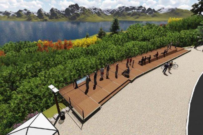 Se inaugura antes de fin de año: así se verá el nuevo mirador de Punto Panorámico de Bariloche