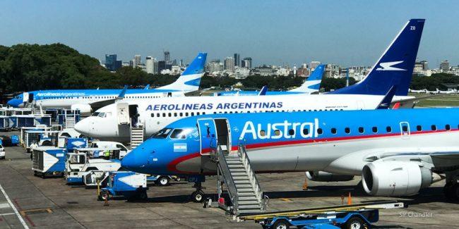 Frente de tormenta para Aerolíneas y Austral