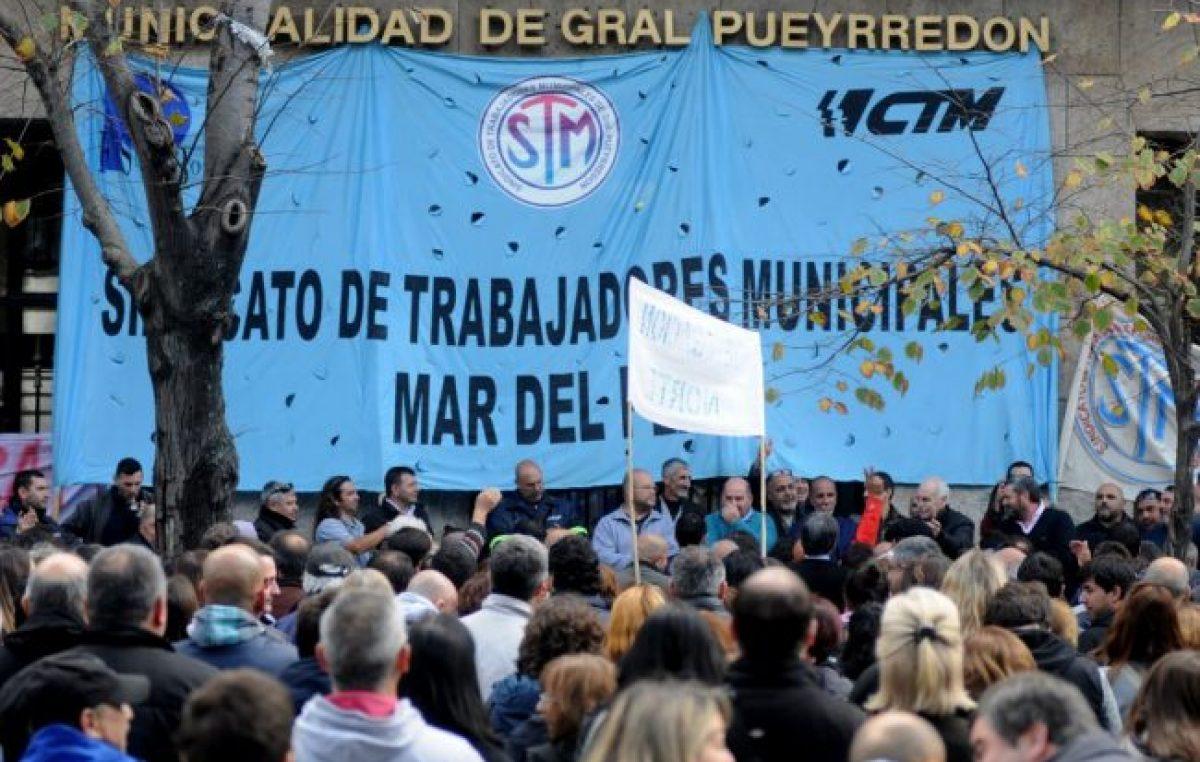 Los municipales de Mar del Plata realizan retención de tareas