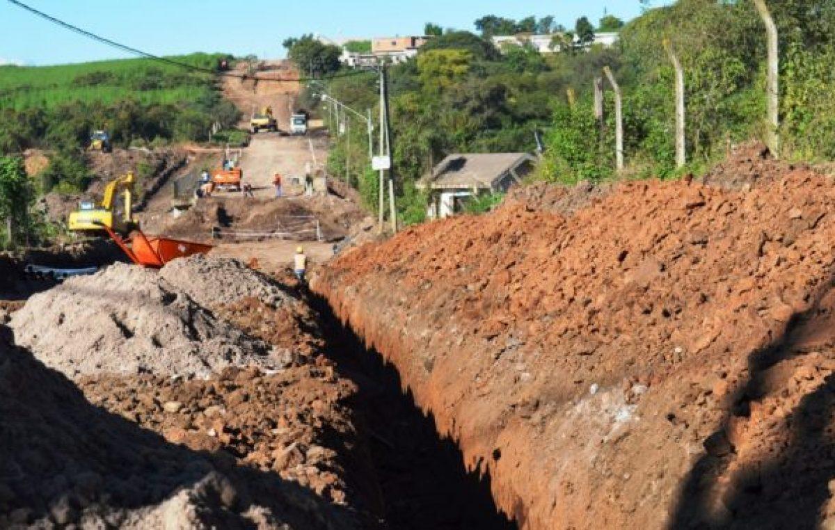 Jujuy: Instalan acueducto y desagües para Alto Comedero
