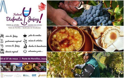 Festival Disfruta Jujuy!... Vinos de Altura y Sabores con Historia..Del 25 al 27 de mayo