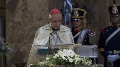"""""""La inequidad genera violencia"""", sostuvo el arzobispo porteño Mario Poli durante el Tedeum"""