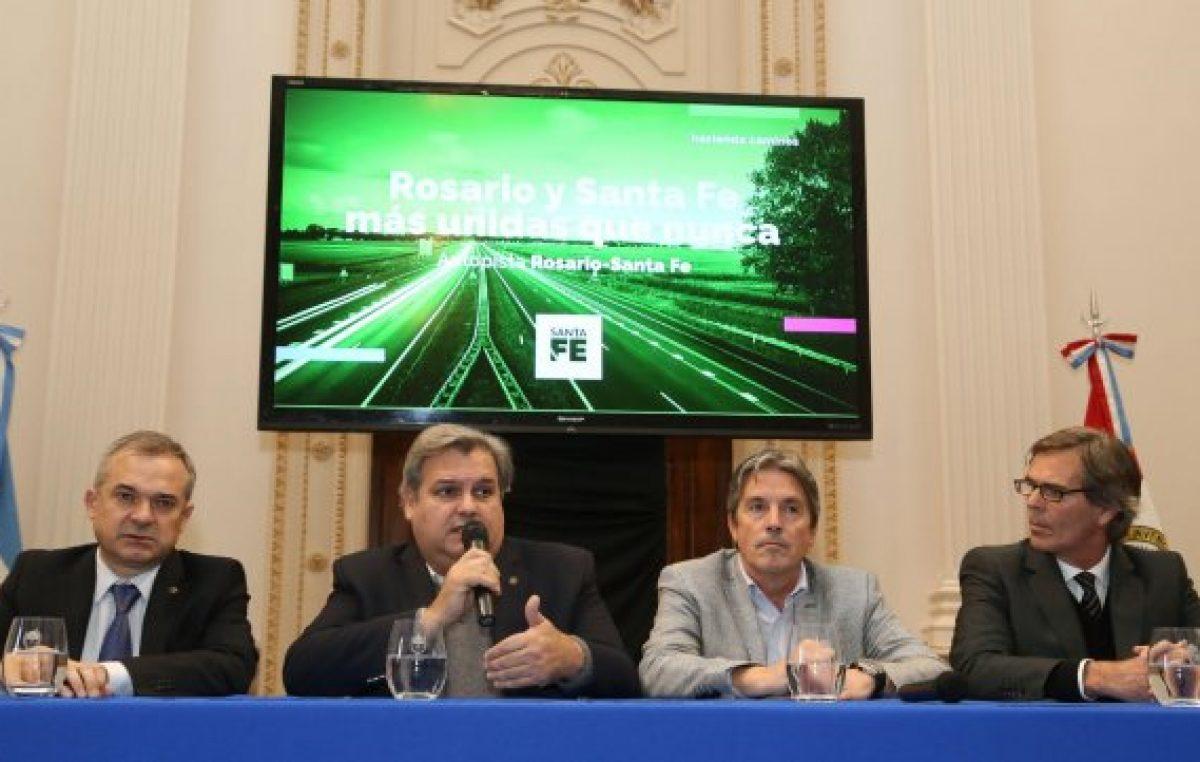 La provincia administrará la autopista Santa Fe – Rosario a través de un fideicomiso