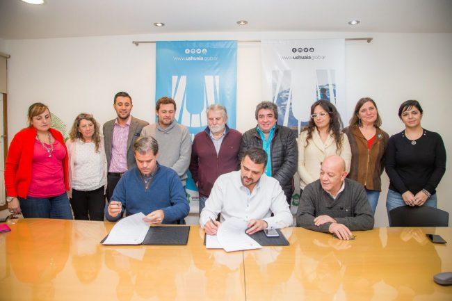 Ushuaia: Vuoto recibió al Intendente de Gualeguaychú y firaron un acuerdo de cooperación