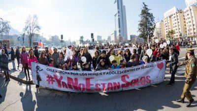 Chilenos se movilizaron para exigir protección estatal a niños internados