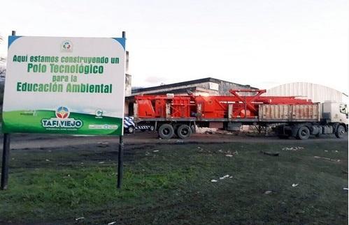 Avanza la instalación de planta de reciclaje en Tafí Viejo