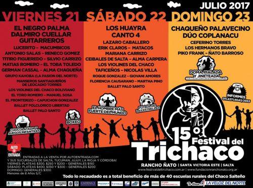 TriChaco2017- 21, 22 y 23 de julio - Santa Victoria Este