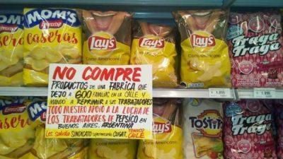 Sindicato chileno llamó a boicotear los productos Pepsico