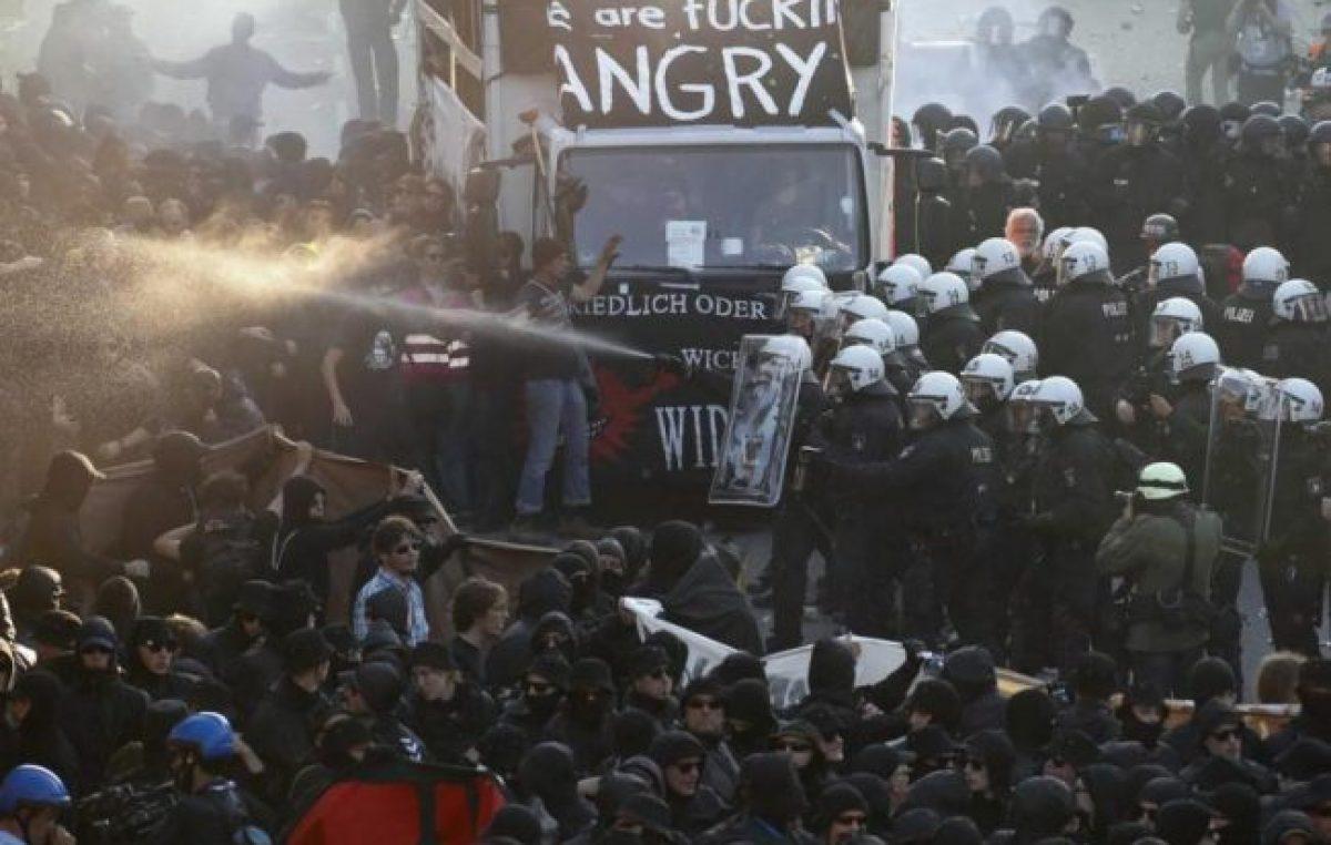 Hamburgo se convirtió en la ciudad de las protestas