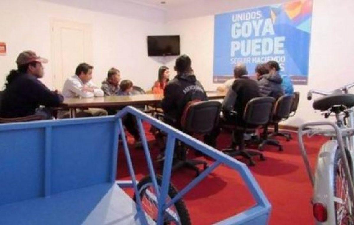 Recolectores de Goya usarán bicicarros en la zona Norte
