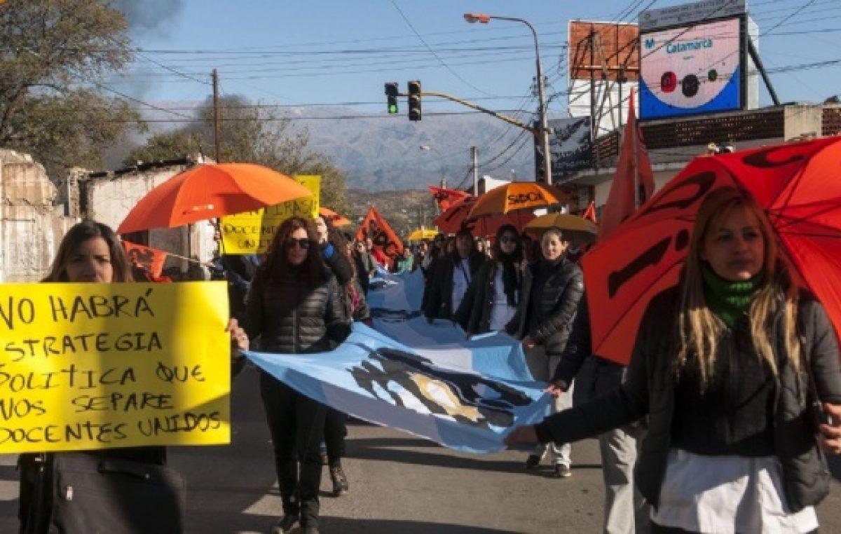 Sin respuesta del intendente, Sidca asegura que no retomarán las clases en Valle Viejo