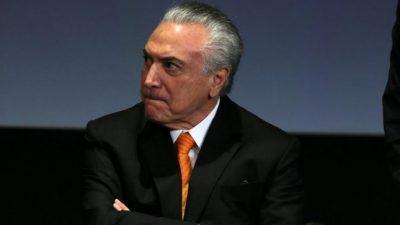 Brasil: el Congreso aceptó la denuncia contra Temer, que apuesta a frenarla