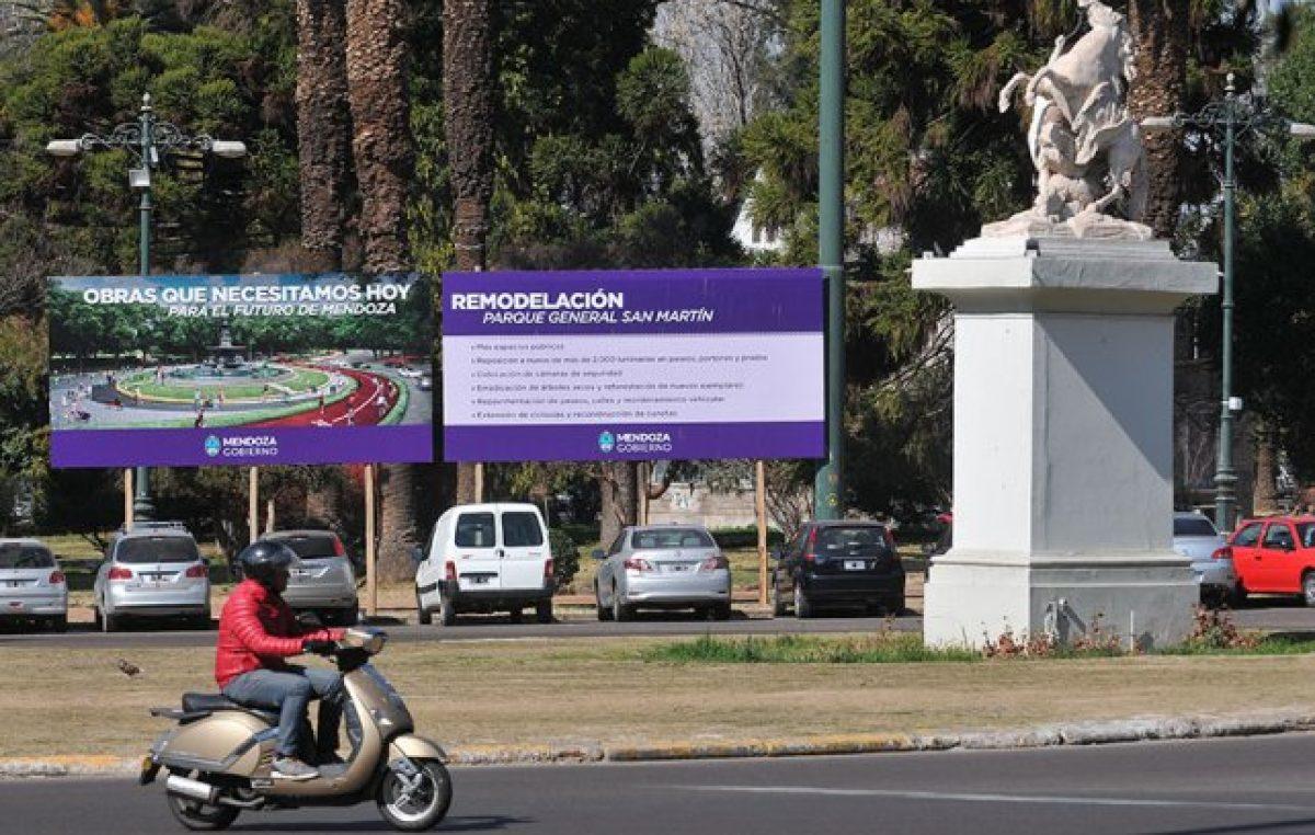 Mendoza: El remozado parque General San Martín se habilitará en octubre