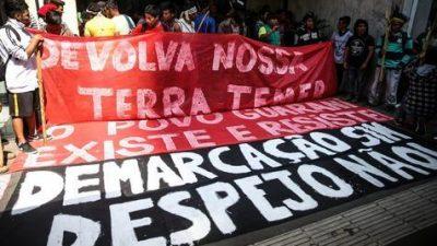Representantes de pueblos originarios ocupan oficina de Presidencia en Sao Paulo