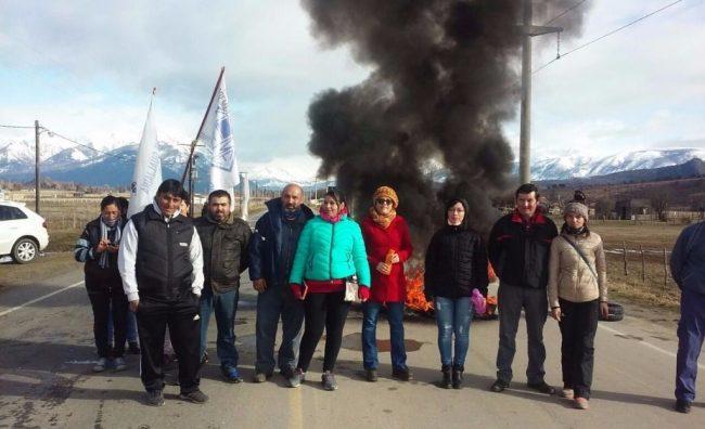 Municipales cortaron Ruta 71 en Cholila