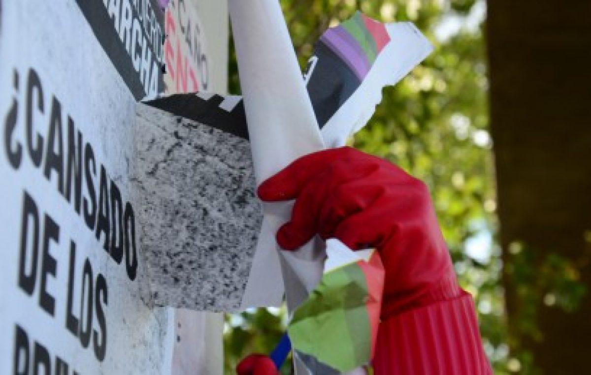Mendozasancionará a partidos que vandalicen el espacio público