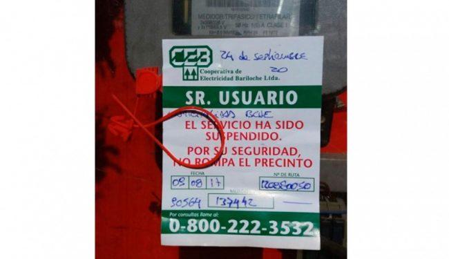 Cortaron la luz en la Municipalidad de Bariloche por falta de pago