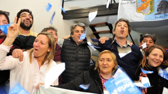 El FpV festejó con euforia en Bariloche