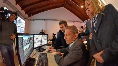Rawson: Habilitaron el Centro de Monitoreo que tiene 80 cámaras de videovigilancia