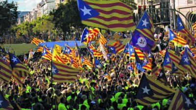 El nacionalismo catalán realizó una multitudinaria marcha