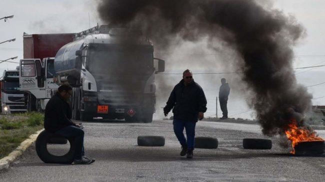 Caleta Olivia: Municipales cortaron Ruta 3 por tercer día consecutivo
