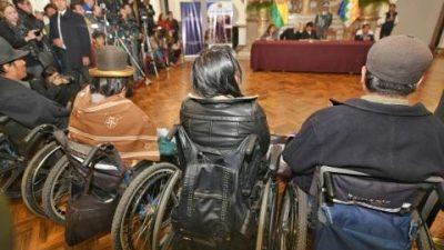 En Bolivia aprueban ley que permite inserción laboral de los discapacitados