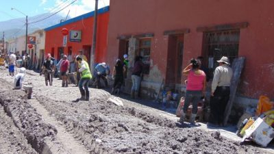 La reconstrucción en Volcán a casi siete meses del alud