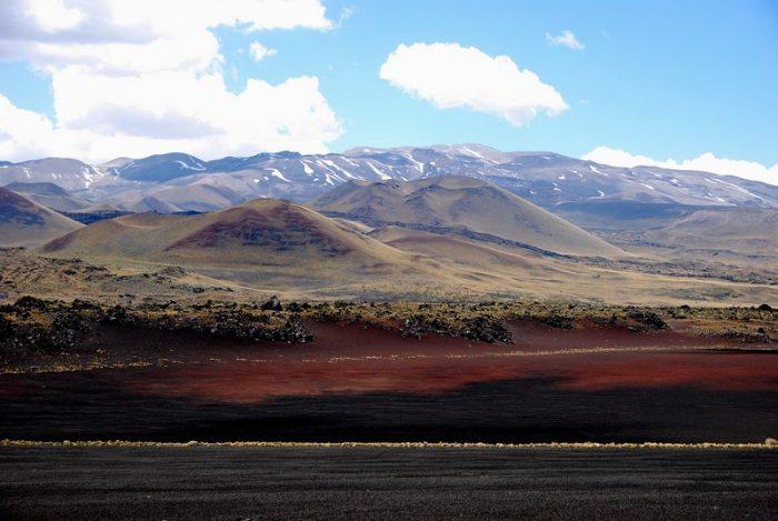 Impresionante: un desierto negro en Argentina