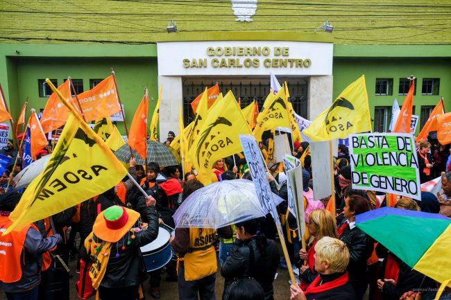 Histórica marcha de Mujeres Municipales y Comunales de FESTRAM en repudio a la violencia de género laboral e institucional.