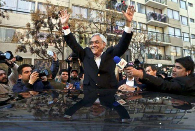 Chile: Piñera, favorito con 44% de apoyo